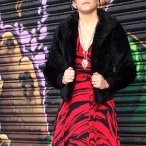 H&M Divided Black Faux Fur Coat